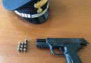 Montescaglioso (Matera): Arrestato dai Carabinieri un 40enne, sorpreso nel centro,con una pistola e colpo in canna.