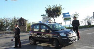 Potenza e provincia:Controllo del territorio dei Carabinieri.