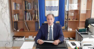 Covid-19, intervento del presidente della Regione Vito Bardi.